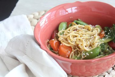 Meatless Mondays: Inspiralized Vegetable Lo-Mein