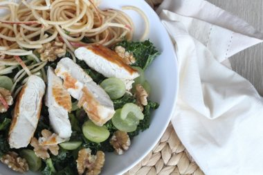 Inspiralized Kale Waldorf Salad