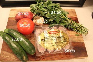 Zucchini Pasta on a Budget