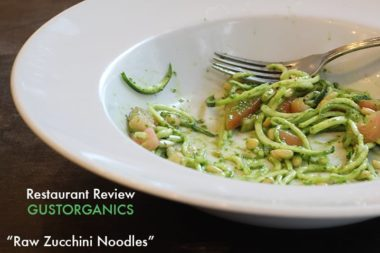 Zucchini Noodle Review: Gustorganics (NYC)