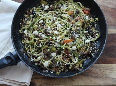 Beef Taco Zucchini Spaghetti