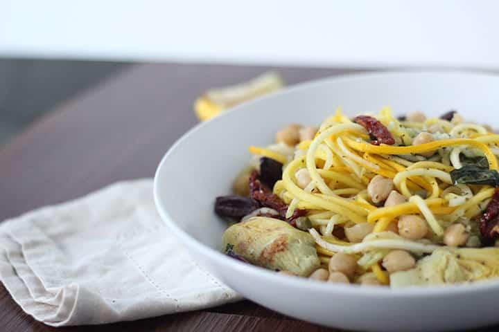 Basil-Lemon Mediterranean Zucchini Pasta