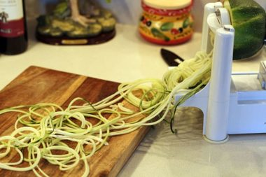 Zucchini Noodles From a Round Zucchini