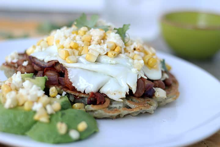 "Huevos Rancheros with a Spiralized Potato ""Tortilla"""