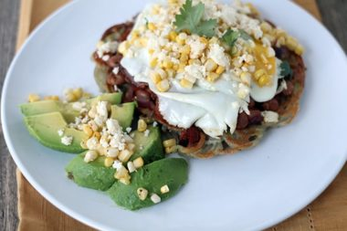 "Meatless Monday: Huevos Rancheros with a Spiralized Potato ""Tortilla"""