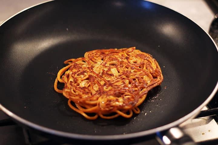 sweet potato noodle pancake