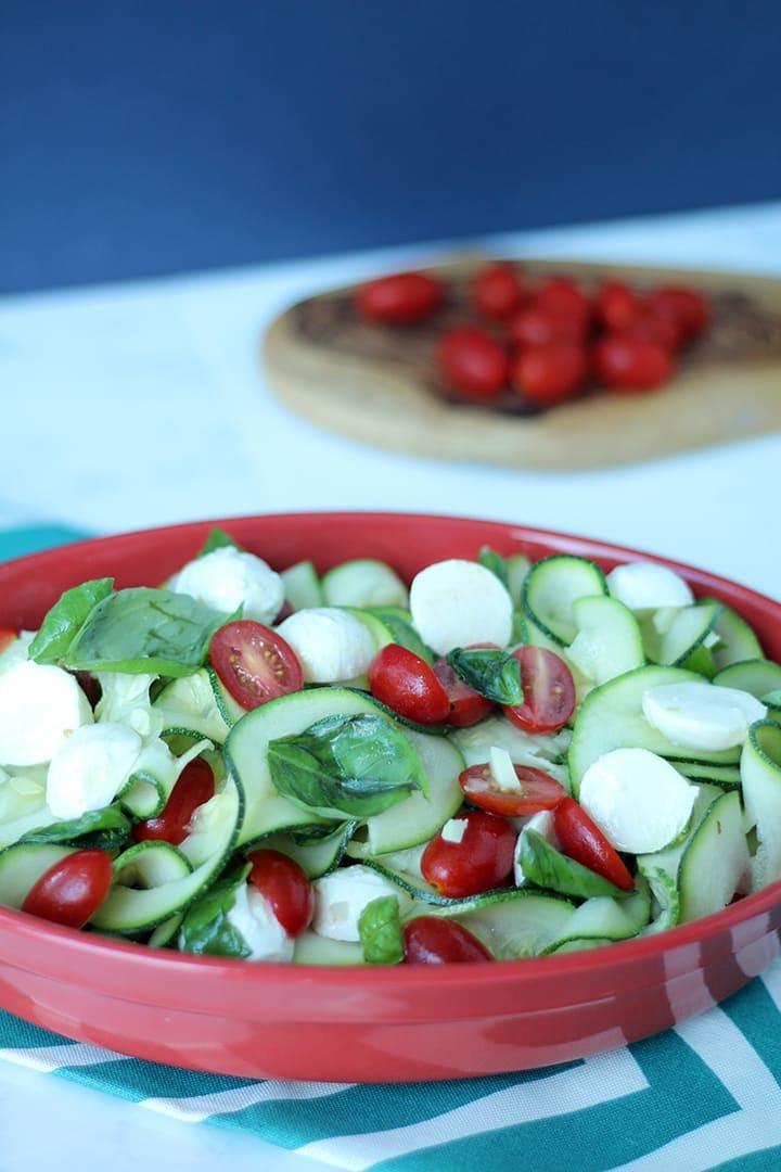 Caprese Zucchini Noodle Salad