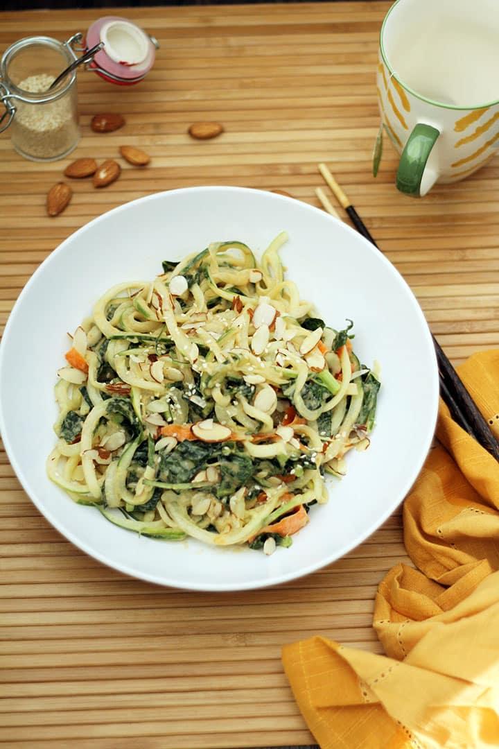 Sesame Ginger Peanut Cucumber Noodles