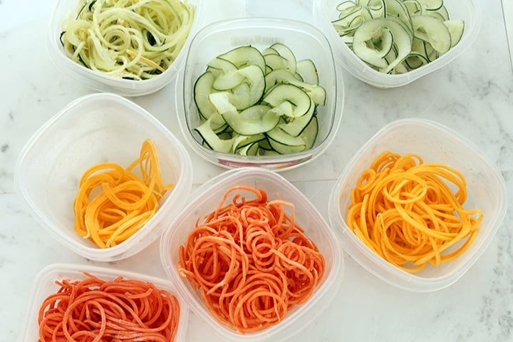 Storing Zucchini Noodles and Other Types of Spiralized Veggie Noodles