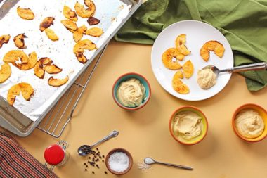 Baked Spiced Rutabaga Chips