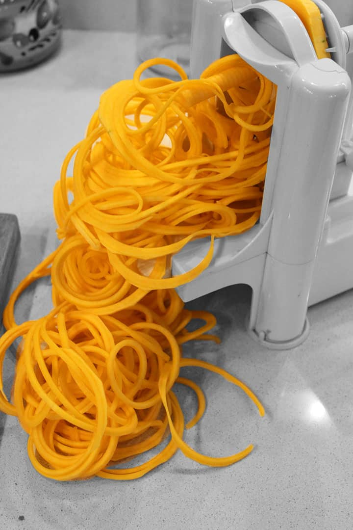How to Spiralize a Butternut Squash