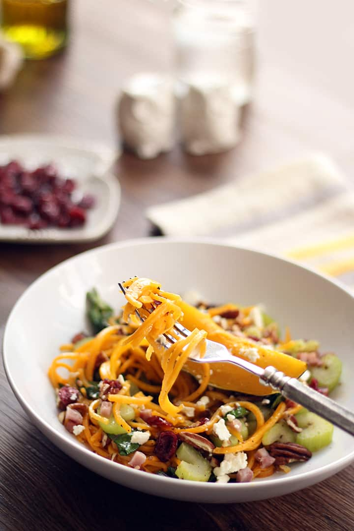 Autumn Harvest Butternut Squash Pasta with Cranberries ...