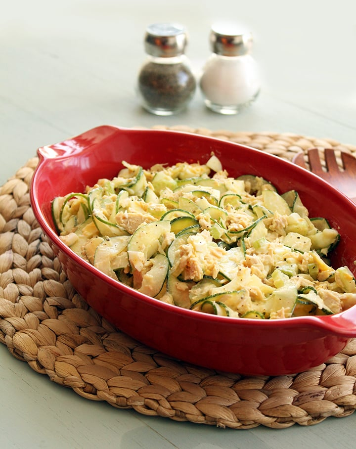 Tuna, Celery and Egg Spiralized Pasta Salad