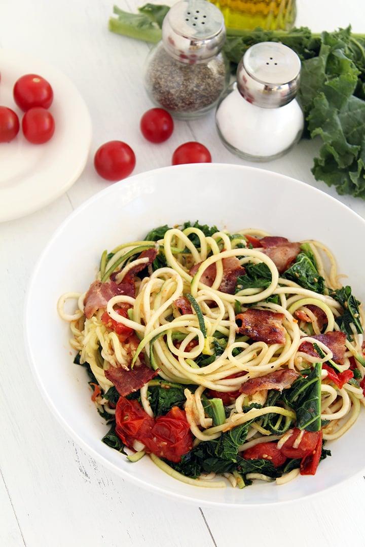 BLT Zucchini Pasta