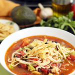Jalapeno-Lime Chicken, Bean & Avocado Zucchini Noodle Soup