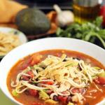 Jalapeno-Lime Chicken, Bean & Avocado Zucchini Noodle Soup