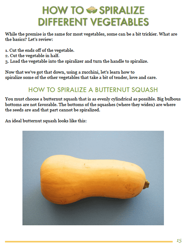 Inspiralized Spiralizer eBook Cookbook