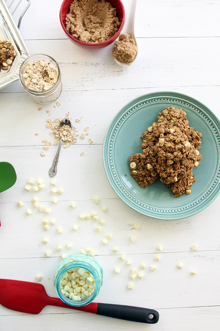 White Chocolate Zucchini-Oat Cookies