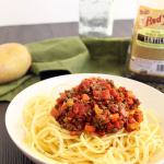 Chunky Lentil Potato Noodle Bolognese