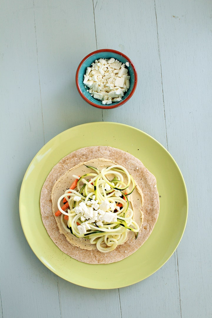 Healthy Crunchy Spiralized Veggie Noodle Wraps