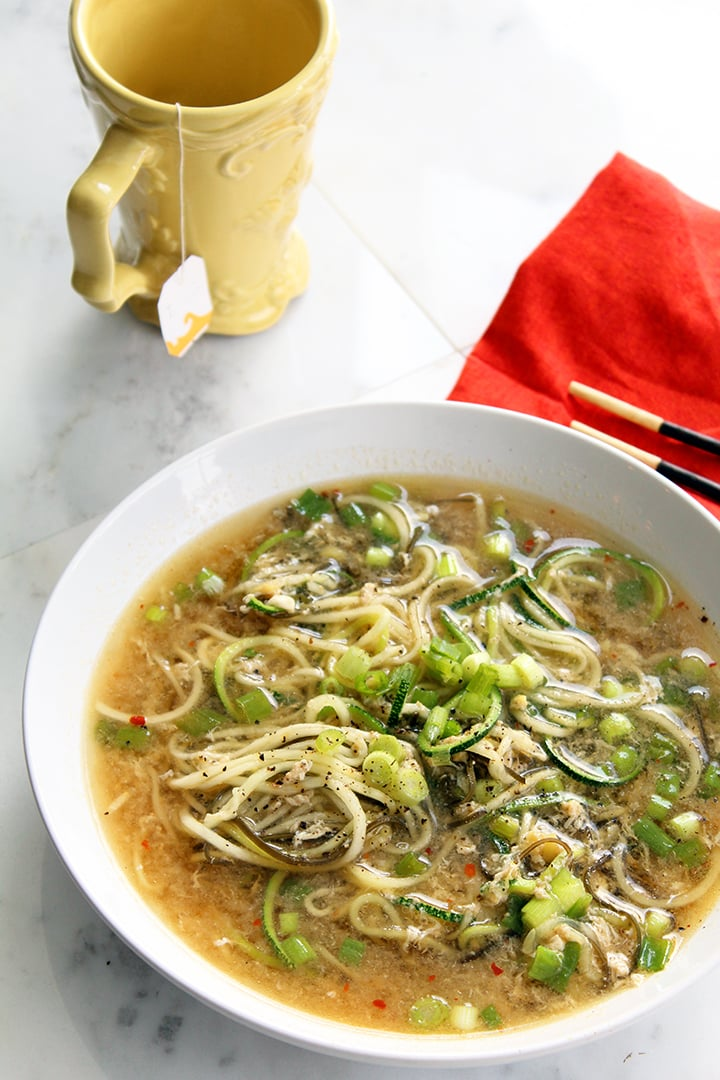 Spicy Ginger Scallion Egg Drop Soup