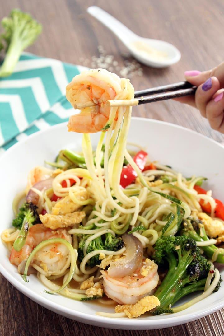 Teriyaki Zucchini Noodle Stir Fry