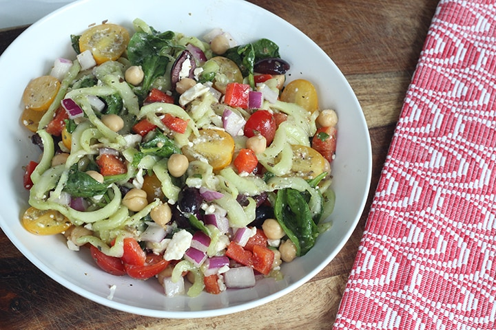 Greek Cucumber Pasta Salad