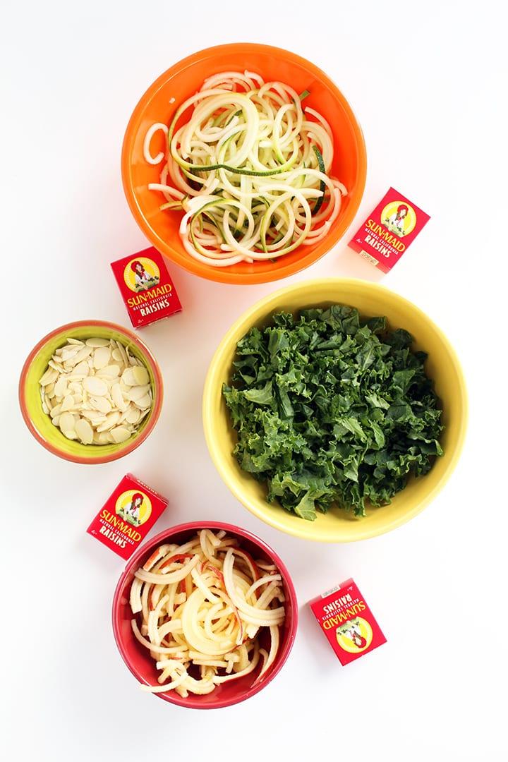 Zucchini & Kale Apple Slaw