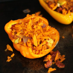 Chorizo, Avocado and Butternut Squash Rice Stuffed Peppers