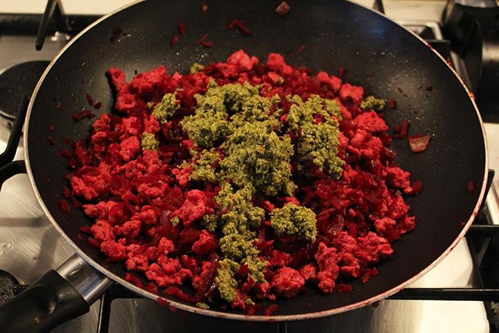 Pesto Turkey & Beet Rice Lettuce Wraps