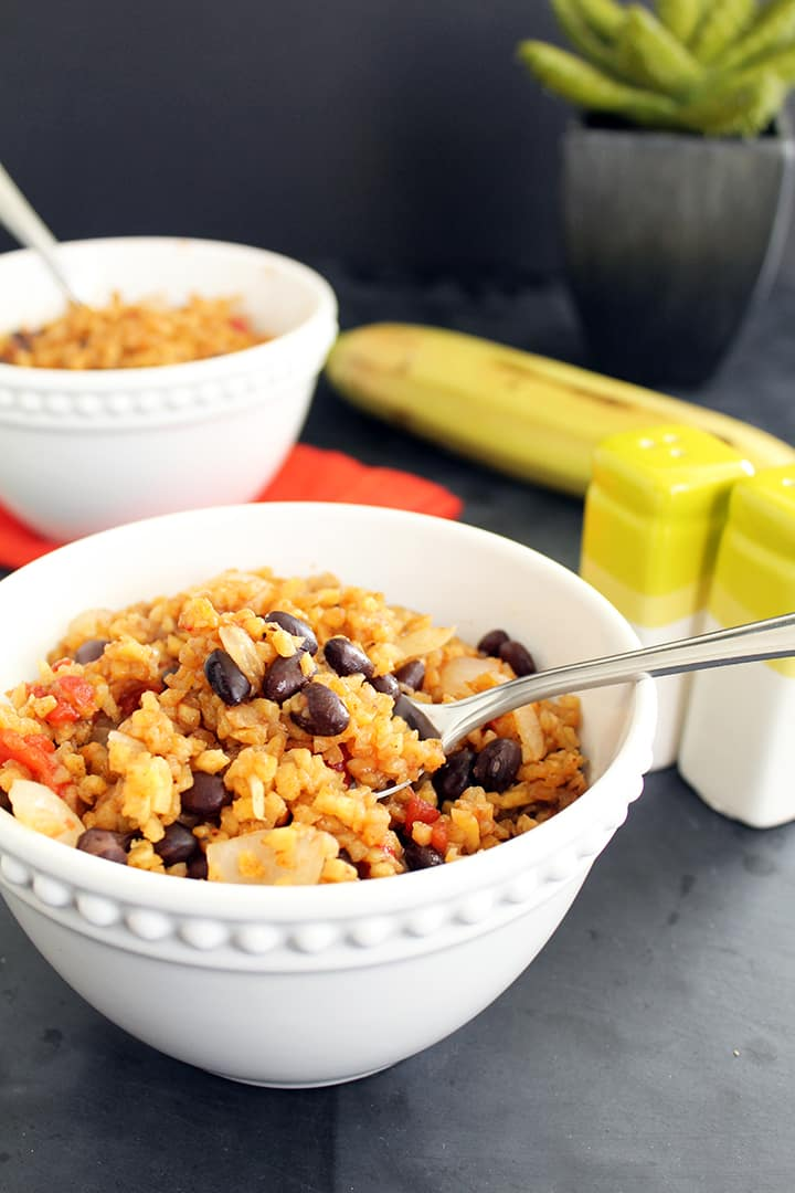 Plantain Rice and Beans