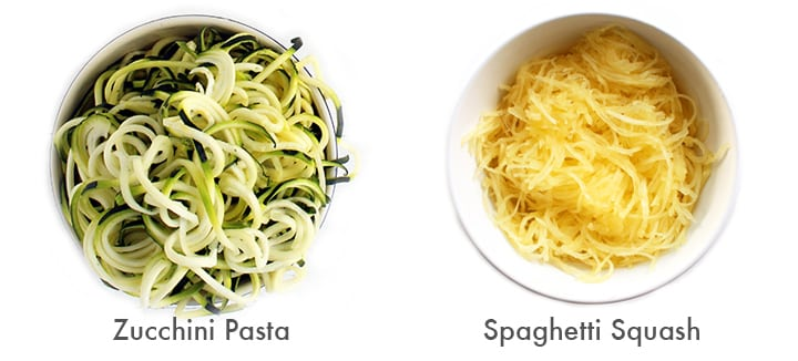 Spaghetti Squash vs Zucchini pasta