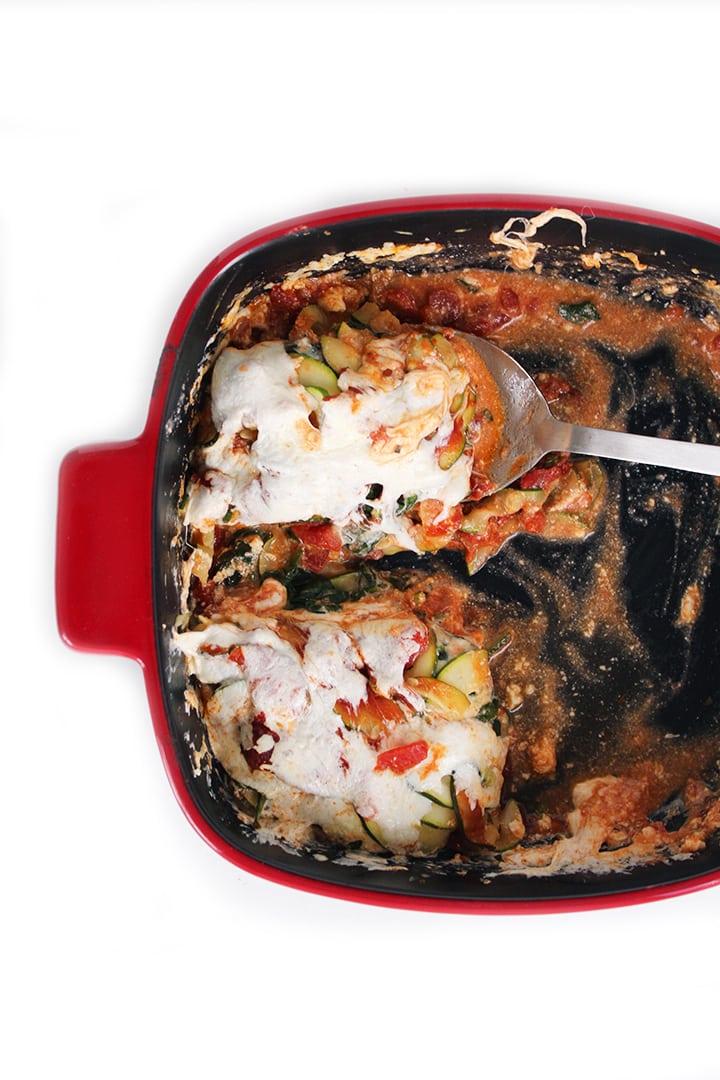 Spinach Zucchini Noodle Lasagna
