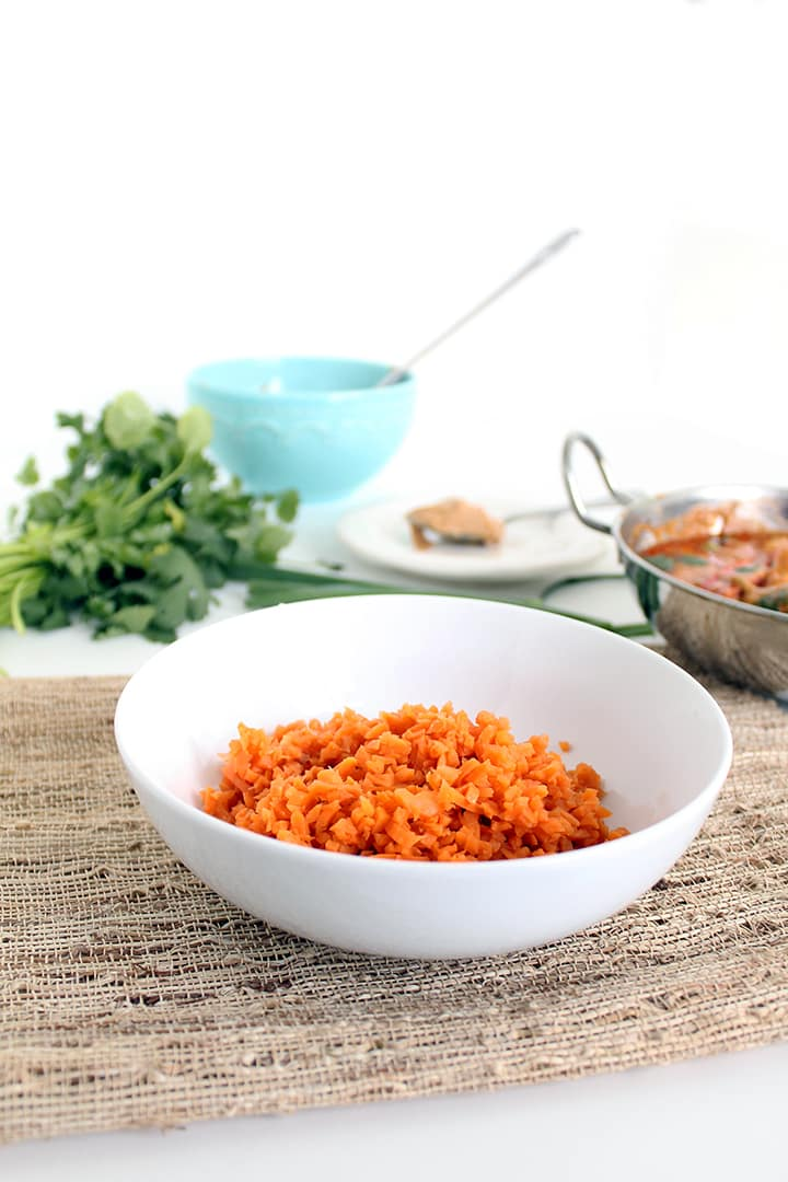 Thai Pork & Peanut Coconut Red Curry with Sweet Potato Rice