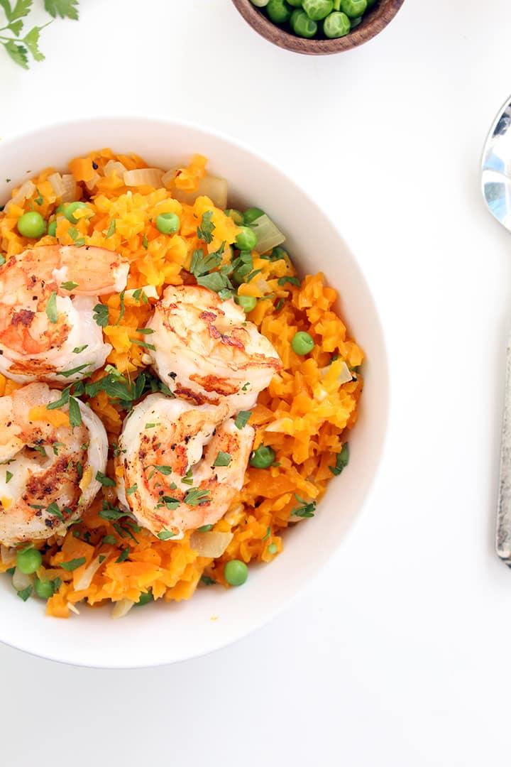 Easy Shrimp Butternut Squash Risotto