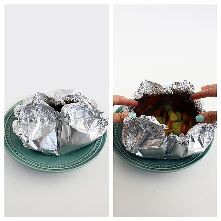 Foil-Pouch Sweet Potato Noodle Chicken Fajitas
