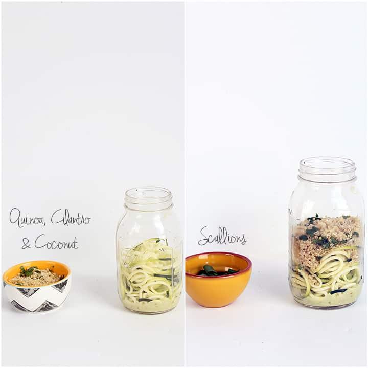 Mason Jar Zucchini Noodle Salads