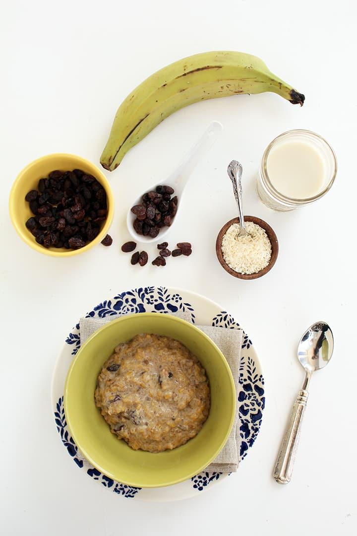 "Coconut Plantain ""Rice"" Pudding"