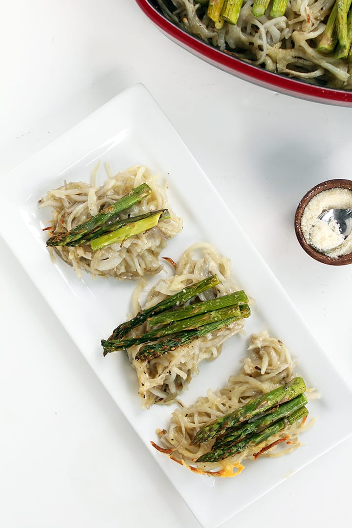 Gruyere and Asparagus Potato Noodle Casserole