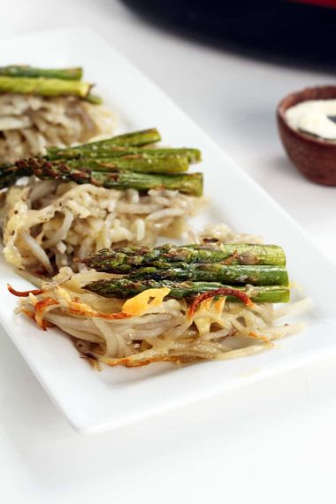 Gruyere and Asparagus Potato Noodle Casserole