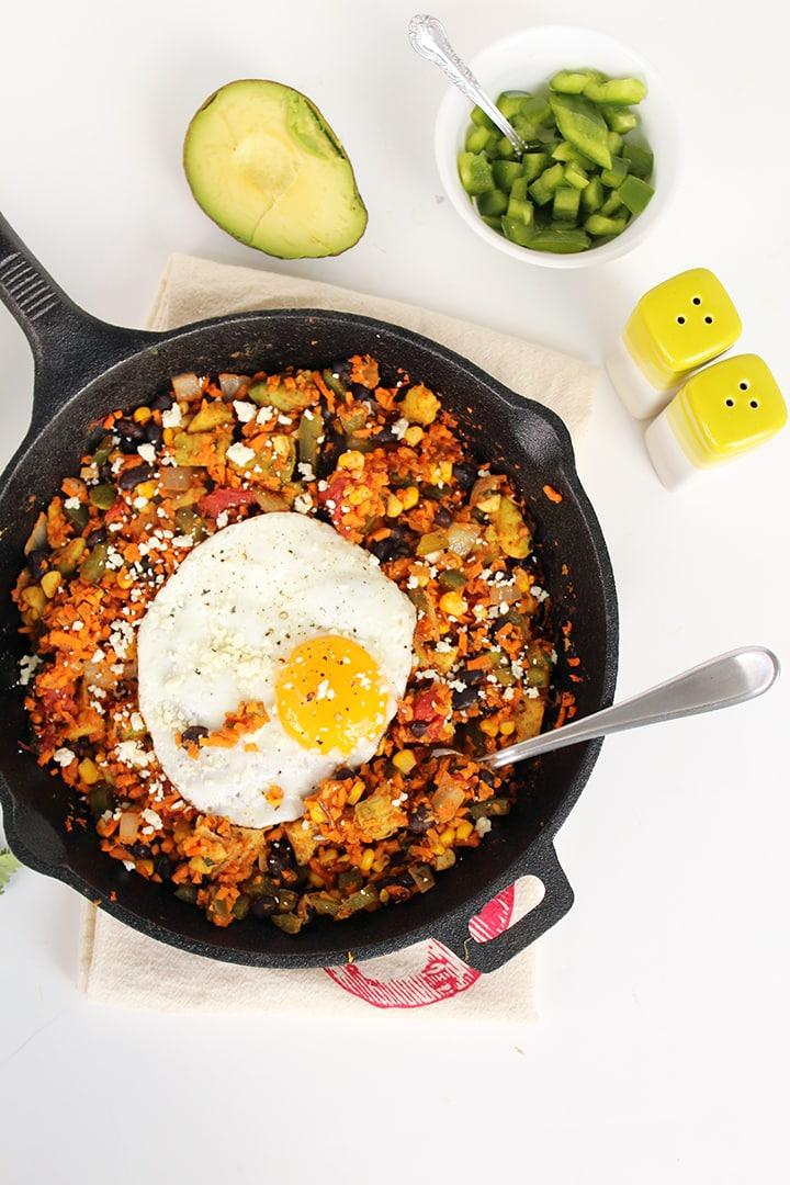 Sweet Potato Rice Mexican Breakfast Skillet