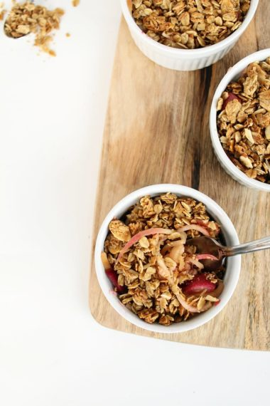 Easy Apple Noodle & Rhubarb Crisps