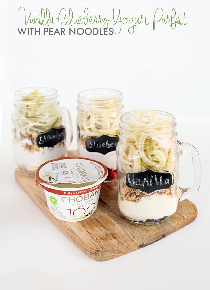 Pear Noodle Yogurt Parfaits with Chobani