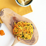 Spiralized Vegetable Cornmeal Fritters