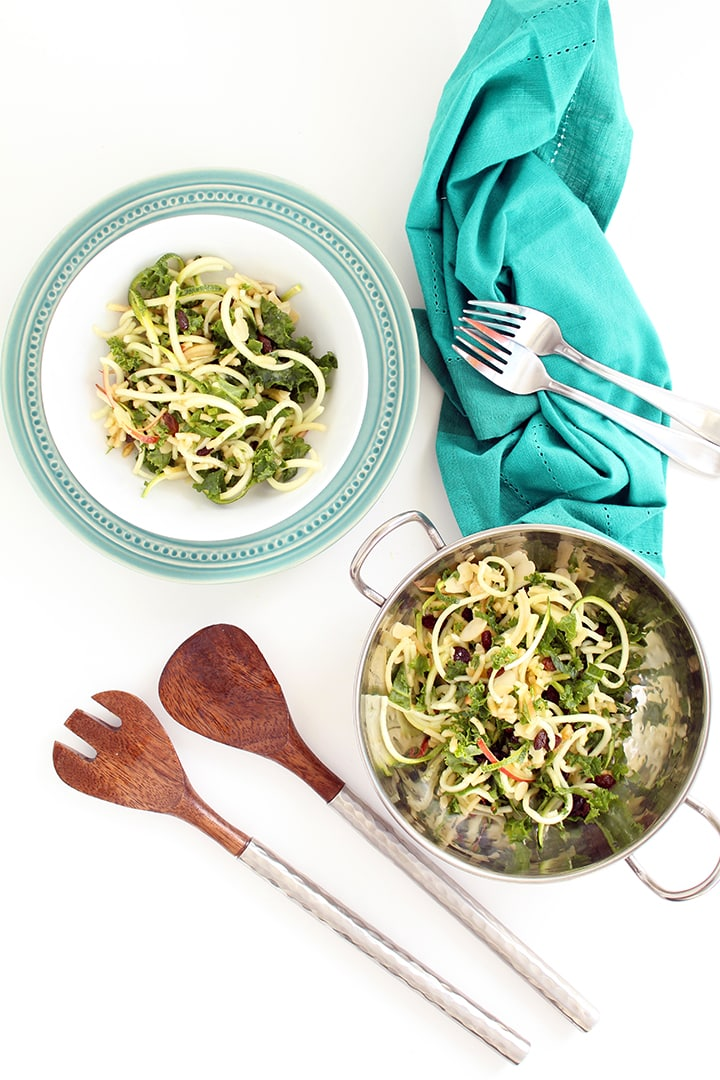 Zucchini and Kale Apple Slaw