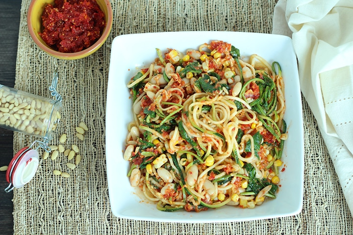 Sundried Tomato Zucchini Pasta I Inspiralized.com
