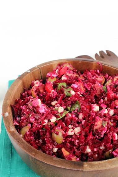 Quinoa-Beet Rice Salad with Veggies and Feta