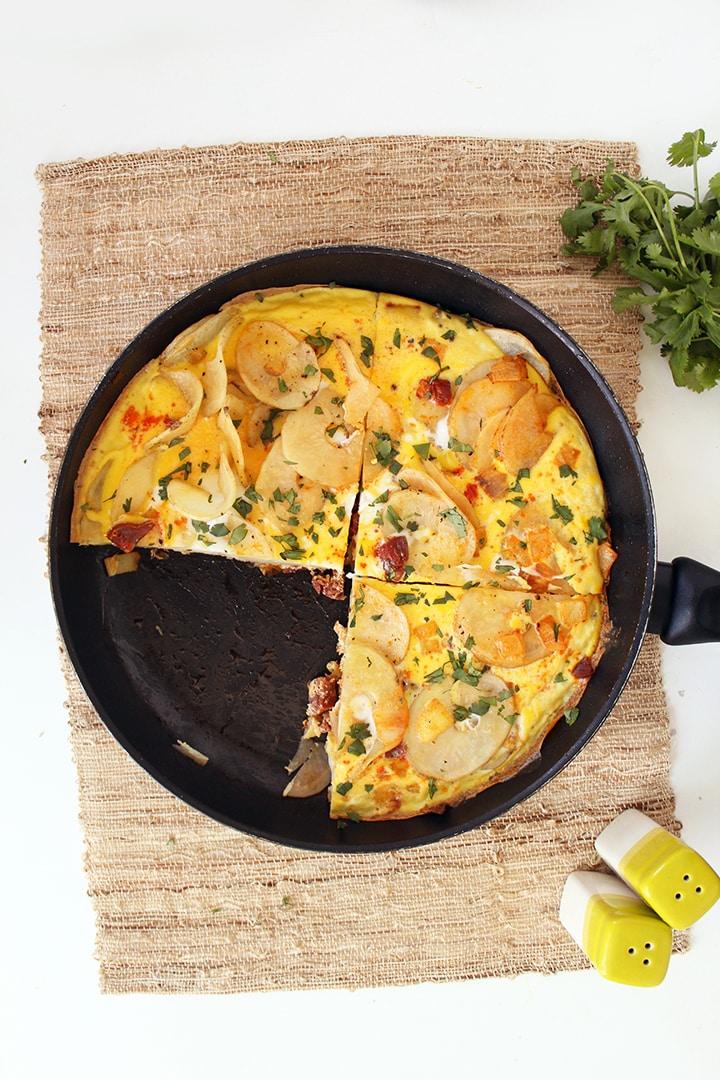 Tortilla Espanola with Chorizo - Inspiralized.com