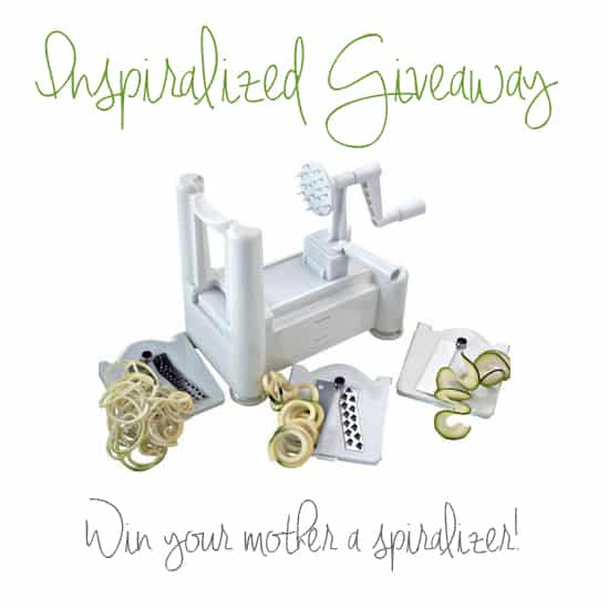 Inspiralized Spiralizer Giveaway