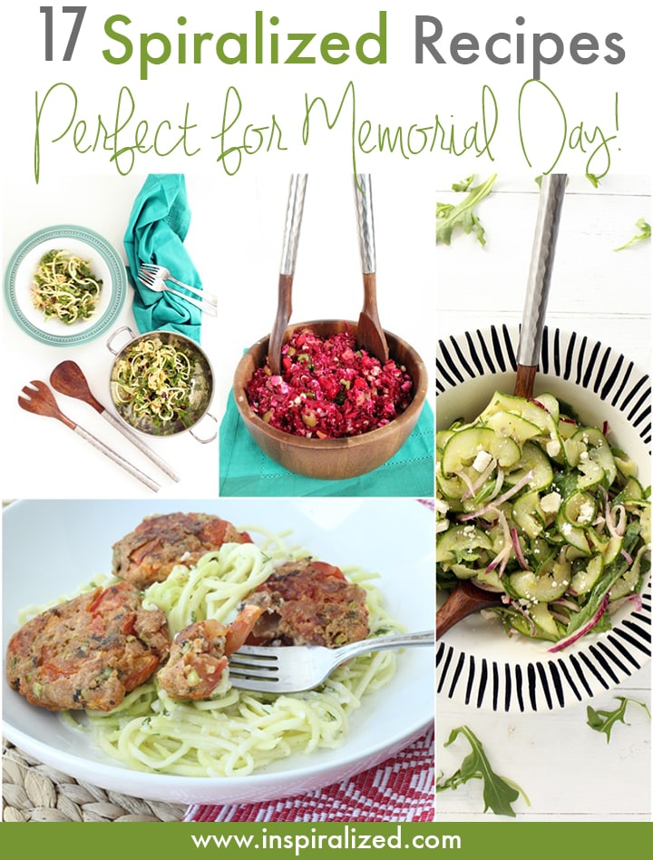 Spiralized Recipes for Memorial Day